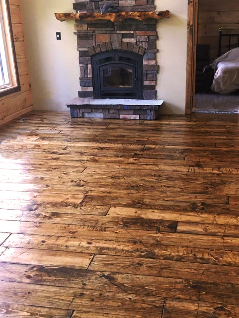 "Trout Creek Planing Mill Master 8"" Wide Plank Floor Finished"
